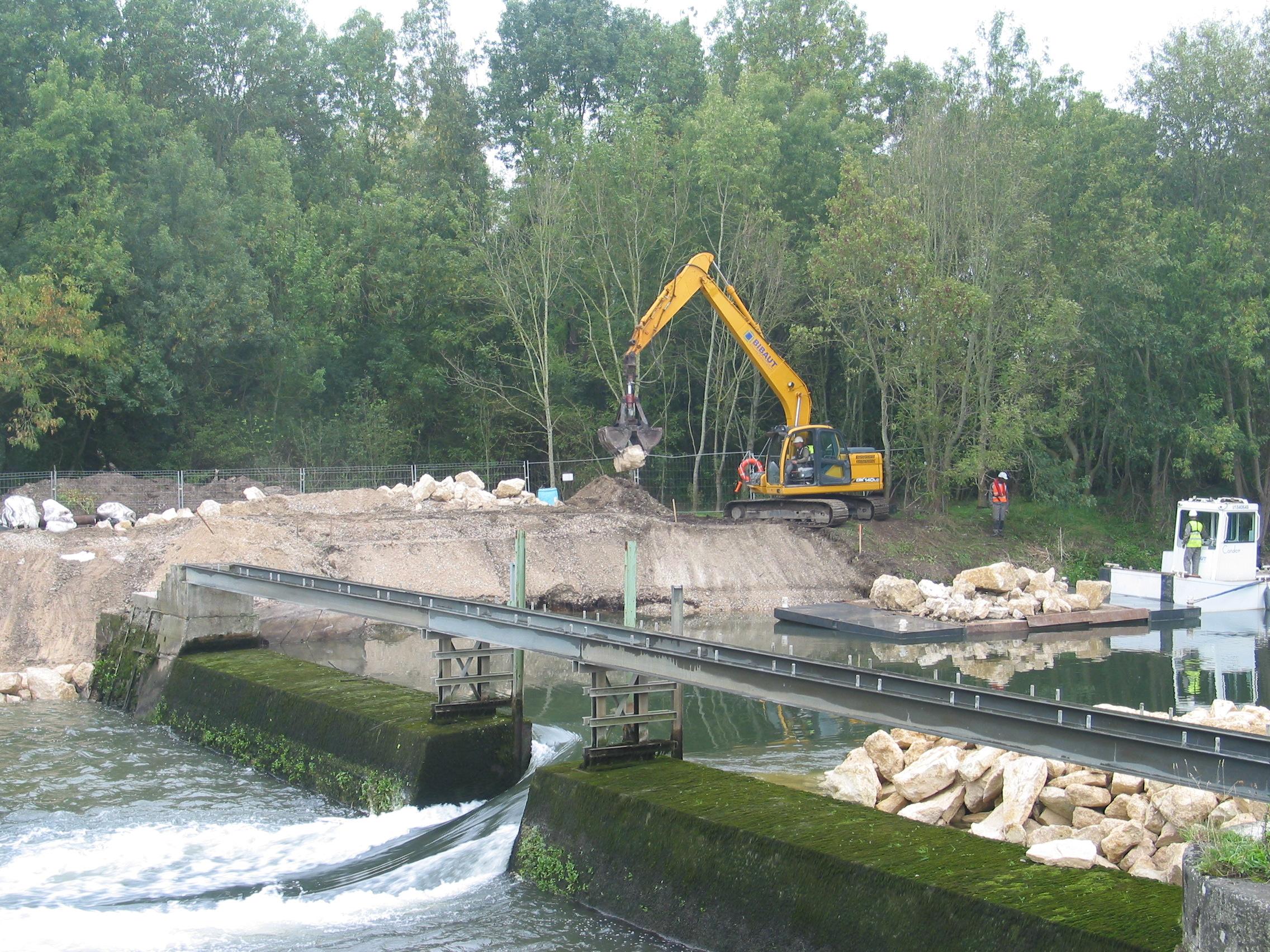 Travaux barrage préparation de détournement le 20sept 2017 001
