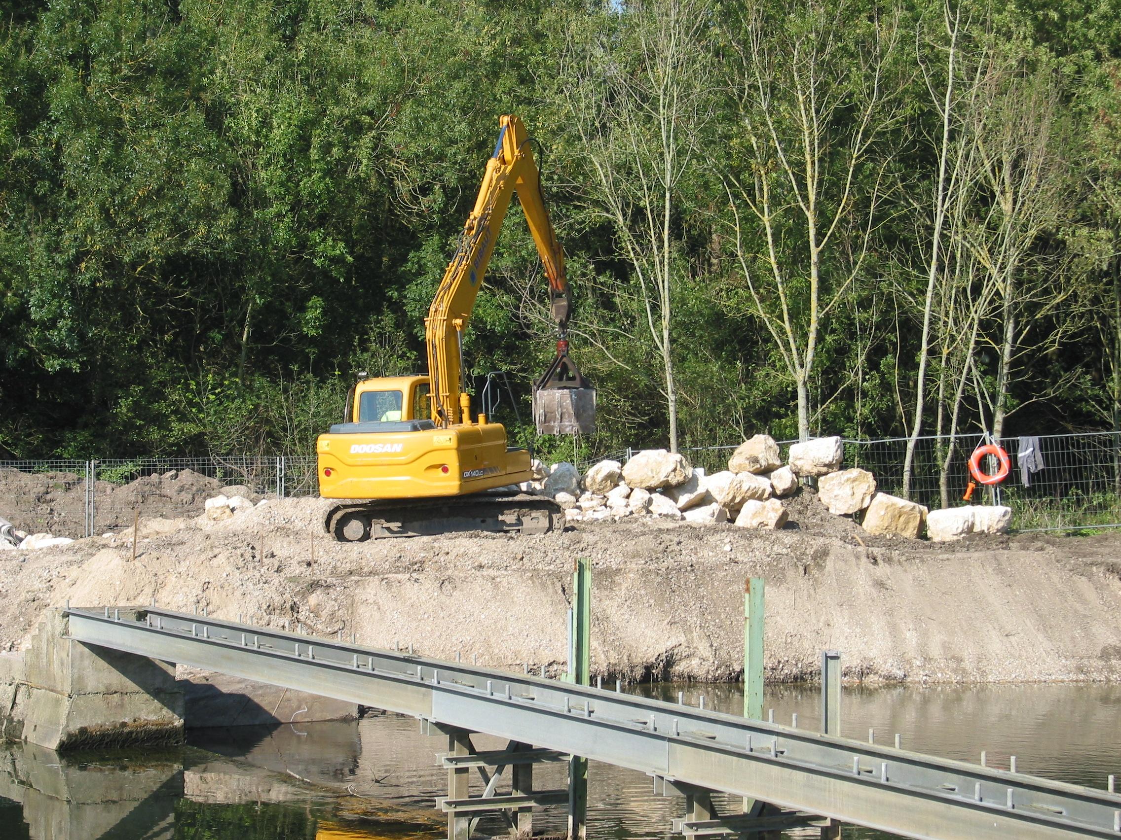 Travaux barrage préparation de détournement le 20sept 2017 004